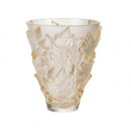 Lalique Champs-Elysee Small Vase Gold Luster Ref.10598500