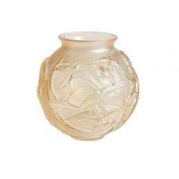 Lalique Hirondelles Medium Vase Gold Luster Ref.10645000