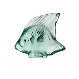 Lalique Pesce Verde Menta Scultura Cristallo Ref. 3001900