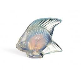 Lalique Pesce Opalescente Lustro Scultura Cristallo Ref. 10307700