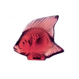 Lalique Pesce Rosso Dorato Scultura Cristallo Ref. 3003100