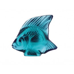 Lalique Fish Sculpture Turquoise Crystal Ref. 3000500