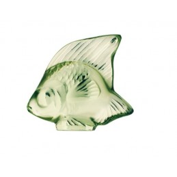 Lalique Fish Sculpture Light Green Crystal Ref. 3001100