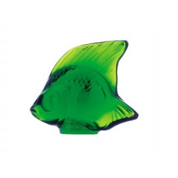 Lalique Fish Sculpture Green Meadow Crystal Ref. 3003200