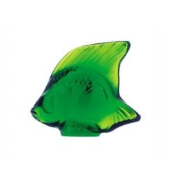 Lalique Pesce Verde Prato Scultura Cristallo Ref. 3003200