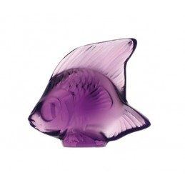Lalique Fish Sculpture Purple Crystal Ref. 3000600