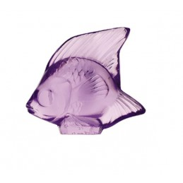 Lalique Fish Sculpture Light Purple Crystal Ref. 3003000