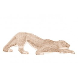 Lalique Zeila Panther Large Sculpture Gold Luster Crystal Ref. 10550200