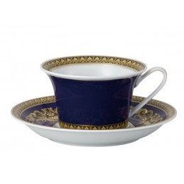 Versace Rosenthal Medusa Blue Tea Cup with Saucer 0, 22 l