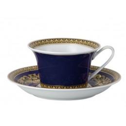 Versace Rosenthal Medusa Blue Tea Cup with Saucer 0, 22 l