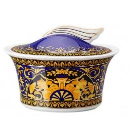 Versace Rosenthal Medusa Blue Sugar Bowl