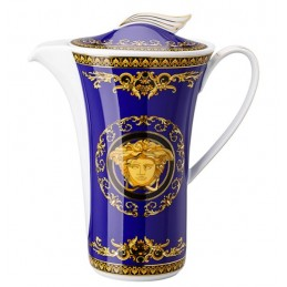Versace Rosenthal Medusa Blue Coffee Pot