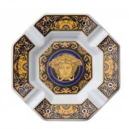 Versace Rosenthal Medusa Blue Ashtray 14 cm