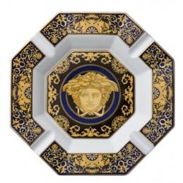 Versace Rosenthal Medusa Blue Ashtray 24 cm