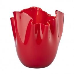 Venini Fazzoletto Opalino Red Vase H 31 cm 700. 00