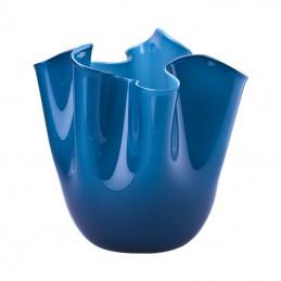 Venini Fazzoletto Opalino Small Vase Horizon H 13 , 5 cm