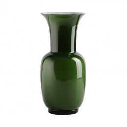 Venini Opalino Vase Green Apple H. 36 cm Murano Glass 706.22