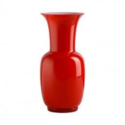 Venini Vaso Opalino Lattimo / Rosso H. 22 cm 706. 08