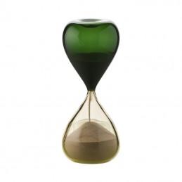 Venini Clessidra Pagliesco / Verde Mela H. 25 cm 420.06