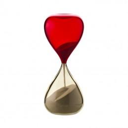 Venini Clessidra Pagliesco / Rosso H. 25 cm 420. 06