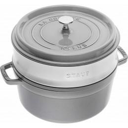 Staub Cocotte Round - Steamer 26 cm Graphite Gray Ref. 40510-605