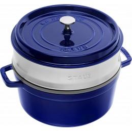 Staub Cocotte Round - Steamer 26 cm Blue 40510-604