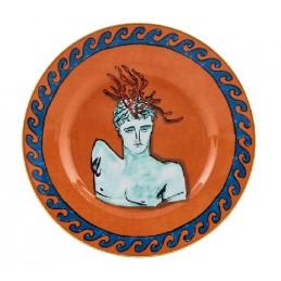 Richard Ginori Il Viaggio di Nettuno Salad Plate 22 cm Rock Orange