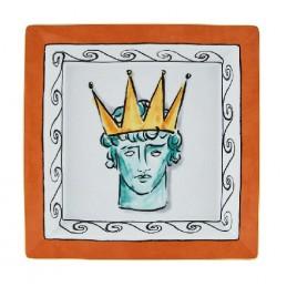 Richard Ginori Il Viaggio di Nettuno Svuotatasche Quadrato Rock Orange