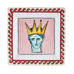 Richard Ginori Il Viaggio di Nettuno Large Dish 24, 5 cm Pink