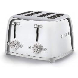 Smeg 4 Slice Toaster 4 large Slots Chrome 50's Retro Style Aesthetic