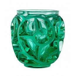 Lalique Tourbillons Small Vase Mint Green Crystal Ref.10684900