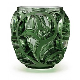 Lalique Tourbillons Small Vase Green Crystal Ref. 10571400