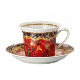 Versace Rosenthal Barocco Holiday Cappuccino Cup with Saucer