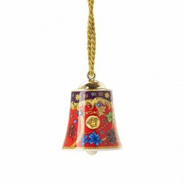 Versace Rosenthal Barocco Holiday Porcelain Bell