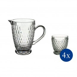 Villeroy & Boch Boston Set 5 Pcs - 4 Tumbler + Pitcher