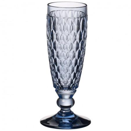 Villeroy & Boch Boston Coloured Set 4 Flute Champagne Blue 0071