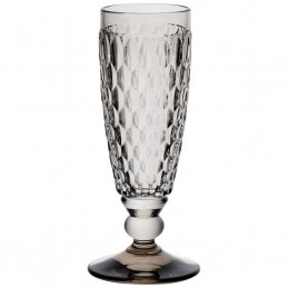 Villeroy & Boch Boston Coloured Set 4 Pcs Champagne Flute Smoke 0075