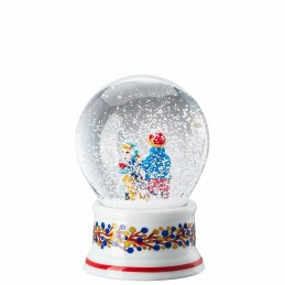 "Hutschenreuther Glass Sphere with Snow effect "" Christmas Bakery"""