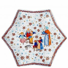 "Hutschenreuther Tray-Star-Shaped 34 cm ""Christmas Bakery"""
