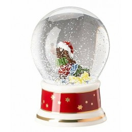 "Hutschenreuther Glass Sphere w.snow effect ""Tomorrow comes Santa Claus"""