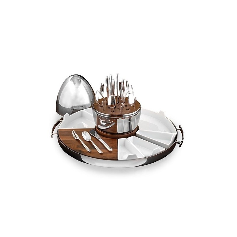 Christofle MOOD PARTY Flatware Set 24 Pcs with Tray