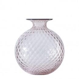 Venini Monofiori Balloton Vase Powder Pink / Oxblood thread 100.18