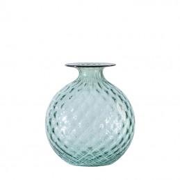 Venini Monofiori Balloton Vase Rio Green / Oxblood thread 100.18