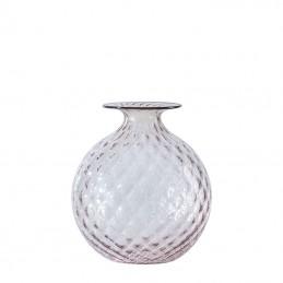 Venini Monofiori Balloton Vase Powder Pink / Oxblood thread 100.16