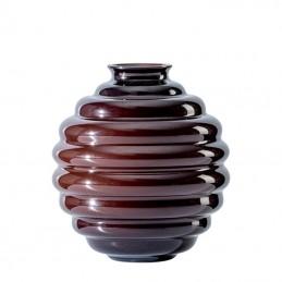 Venini Deco Vase oxblood red / Oxblood red H. 24.5 cm 707. 07