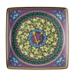 Versace Rosenthal Barocco Mosaic Square Bowl Flat 12 x 12 cm