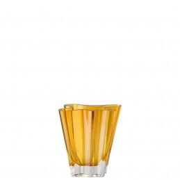 Rosenthal Vaso Flux Ambra 14 cm in Cristallo
