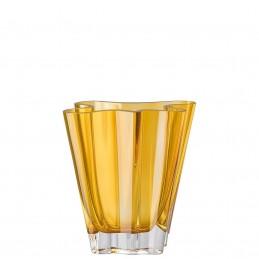 Rosenthal Flux Amber Vase 20 cm Crystal