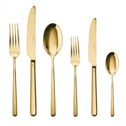 Sambonet Linear Pvd Gold Flatware Set 36 pcs s.h. 52713G83