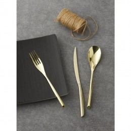 Sambonet Bamboo Pvd Champagne Flatware Set 30 pcs s.h.52719PN1